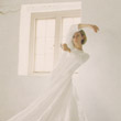 The Waiting Game, 1997, linen dress made for dance performance in collaboration with Angela Woodhouse