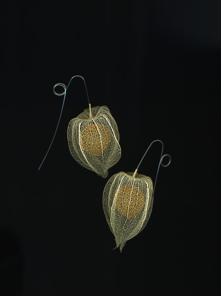 Lantern earrings, Nora Fok